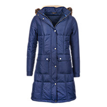 Buy Barbour Icefield Quilted Coat, Royal Navy Online at johnlewis.com