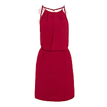 Buy Samsoe & Samsoe Willow Lace Back Dress, Beet Red Online at johnlewis.com