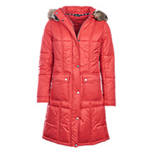Buy Barbour Icefield Quilted Coat, Red Online at johnlewis.com