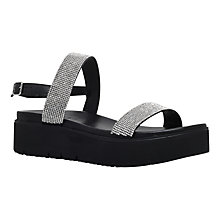 Buy Carvela Kryptic Flatform Sandals, Black Online at johnlewis.com