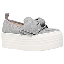 Buy KG by Kurt Geiger Lucky Flatform Loafers, Grey Online at johnlewis.com