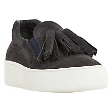 Buy Dune Black Elda Slip On Flatform Trainers Online at johnlewis.com