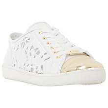 Buy Dune Elley Laser Cut Lace Up Trainers Online at johnlewis.com