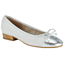 Buy John Lewis Halle Ballet Pumps, Silver Sparkle Suede Online at johnlewis.com