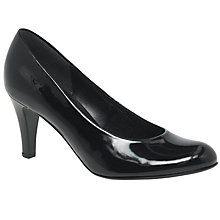 Buy Gabor Lavender Court Shoes, Black Online at johnlewis.com