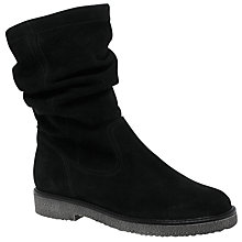 Buy Gabor Detour Slouch Calf Boots, Black Online at johnlewis.com