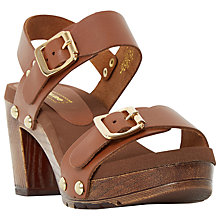 Buy Dune Icon Block Heeled Sandals Online at johnlewis.com