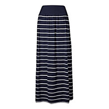 Buy Fat Face Jade Striped Skirt, Navy Online at johnlewis.com