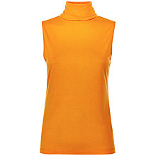 Buy Jaeger Roll Neck Top, Orange Online at johnlewis.com