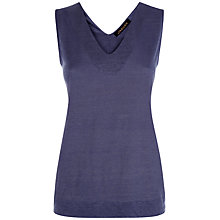 Buy Jaeger Linen V Neck Top Online at johnlewis.com