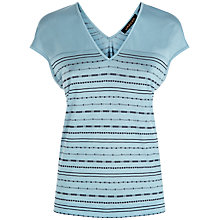 Buy Jaeger Embellished Striped T-Shirt, Blue/Navy Online at johnlewis.com