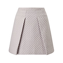 Buy ST Studio Quilted Skater Skirt, Pebble Grey Online at johnlewis.com