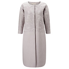 Buy ST Studio Quilted Drop Shoulder Coat, Pebble Grey Online at johnlewis.com