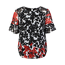 Buy Celuu Dee Trumpet Sleeve Top, Multi Online at johnlewis.com