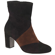 Buy Gabor Freeman Block Heeled Ankle Boots, Brown Online at johnlewis.com