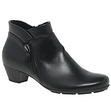 Buy Gabor Emilia Leather Ankle Boots, Black Online at johnlewis.com