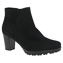 Buy Gabor Calista Wide Block Heeled Ankle Boots, Black Online at johnlewis.com