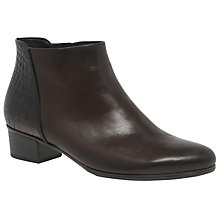 Buy Gabor Fresco Ankle Boots, Dark Brown Leather Online at johnlewis.com