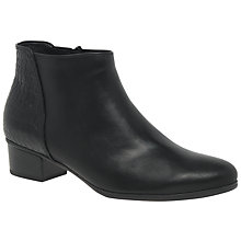 Buy Gabor Fresco Block Heeled Ankle Boots, Black Online at johnlewis.com