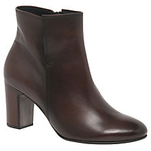 Buy Gabor Becca Block Heeled Ankle Boots, Brown Online at johnlewis.com