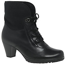 Buy Gabor Cosmic Wide Lace Up Ankle Boots, Black Online at johnlewis.com