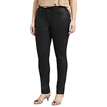 Buy Violeta by Mango Coated Slim Fit Carmen Jeans, Black Online at johnlewis.com