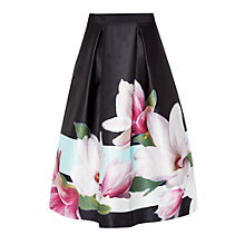 Buy Ted Baker Magnolia Stripe Skirt, Navy Online at johnlewis.com