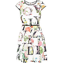 Buy Ted Baker Lusara A-Z Ditzy Floral Dress, Ivory Online at johnlewis.com