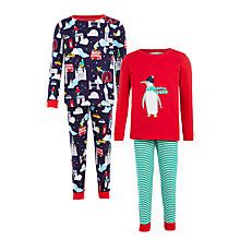 Buy John Lewis Children's Penguin and London Pyjamas, Pack of 2, Multi Online at johnlewis.com