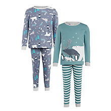 Buy John Lewis Children's Winter Animals Pyjamas, Pack of 2, Multi Online at johnlewis.com