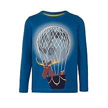 Buy John Lewis Boys' Moose Hot Air Balloon T-Shirt, Blue Online at johnlewis.com