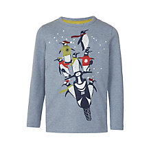 Buy John Lewis Boys' Penguin Moped Glow In The Dark T-Shirt, Grey Online at johnlewis.com