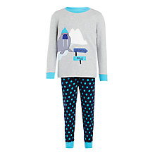 Buy John Lewis Children's Walrus Appliqué Pyjamas, Grey/Blue Online at johnlewis.com