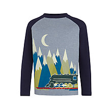 Buy John Lewis Boys' Train and Mountain T-Shirt, Grey/Multi Online at johnlewis.com