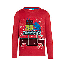 Buy John Lewis Boys' Camper Van and Presents Glow In The Dark T-Shirt, Red Online at johnlewis.com