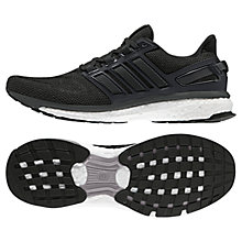 Buy Adidas Energy Boost 3 Men's Running Shoes, Black/Grey Online at johnlewis.com