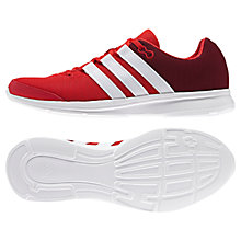 Buy Adidas Lite Runner Men's Running Shoes, Red/White Online at johnlewis.com