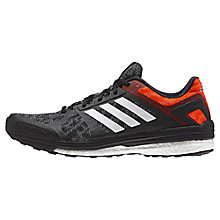 Buy Adidas Supernova Sequence 9 Men's Running Shoes, Black/White/Orange Online at johnlewis.com