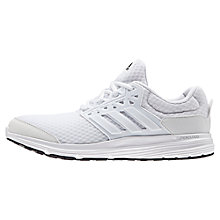 Buy Adidas Galaxy 3 Men's Running Shoes, White/Silver Online at johnlewis.com