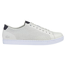 Buy Lacoste Showcourt Trainer, Off White Online at johnlewis.com