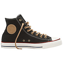 Buy Converse Chuck Taylor All Star Canvas High Top Trainers, Black Online at johnlewis.com