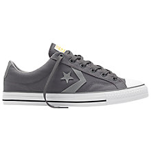 Buy Converse Star Player Canvas Trainers, Grey Online at johnlewis.com