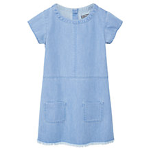 Buy Mango Kids Girls' Pocket Denim Dress, Open Blue Online at johnlewis.com