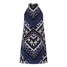 Buy Warehouse Patchwork Print Halter Dress, Multi Online at johnlewis.com