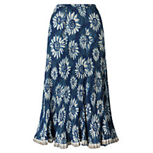 Buy East Sunflower Anokhi Skirt, Indigo Online at johnlewis.com