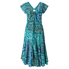 Buy East Lila Bandhini Dress, Blue Online at johnlewis.com