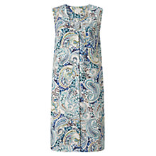 Buy East Linen Paisley Print Tunic Dress, Blue Online at johnlewis.com