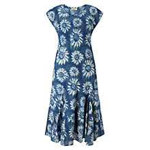 Buy East Sunflower Anokhi Dress, Indigo Online at johnlewis.com