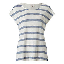 Buy East Stripe Jersey Top, Sky Online at johnlewis.com