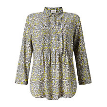 Buy East Pondicherry Print Blouse, Lemon Online at johnlewis.com
